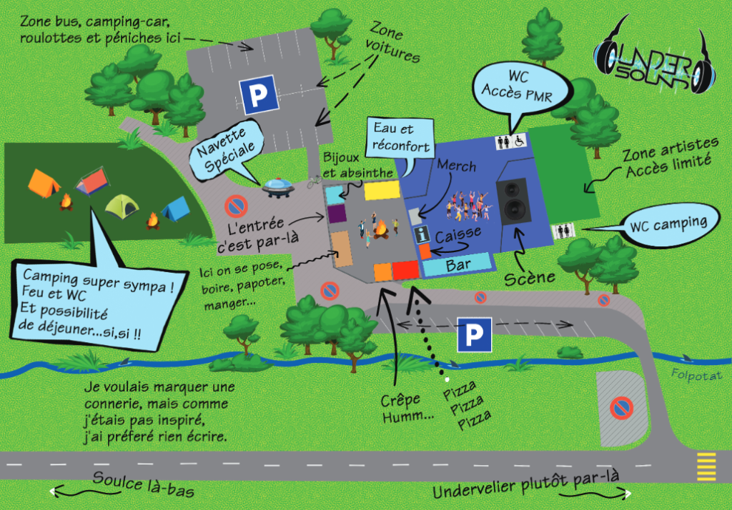 Plan du site du Festival